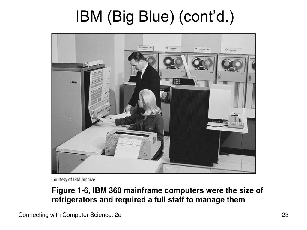 IBM (Big Blue) (cont'd.)