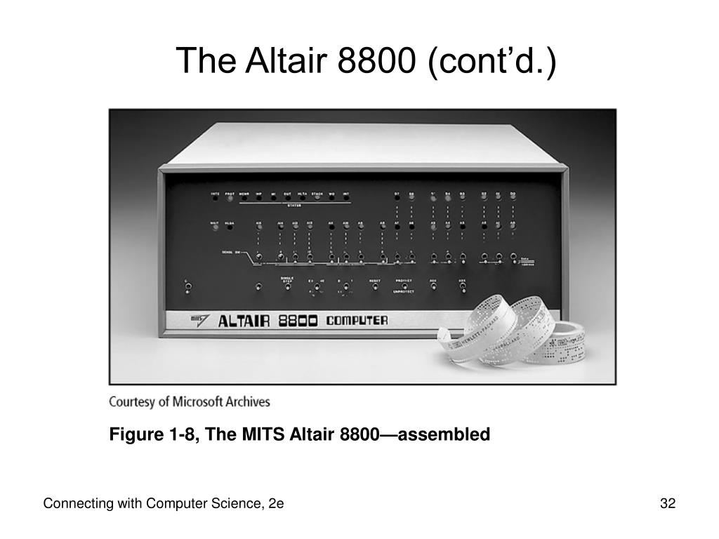 The Altair 8800 (cont'd.)