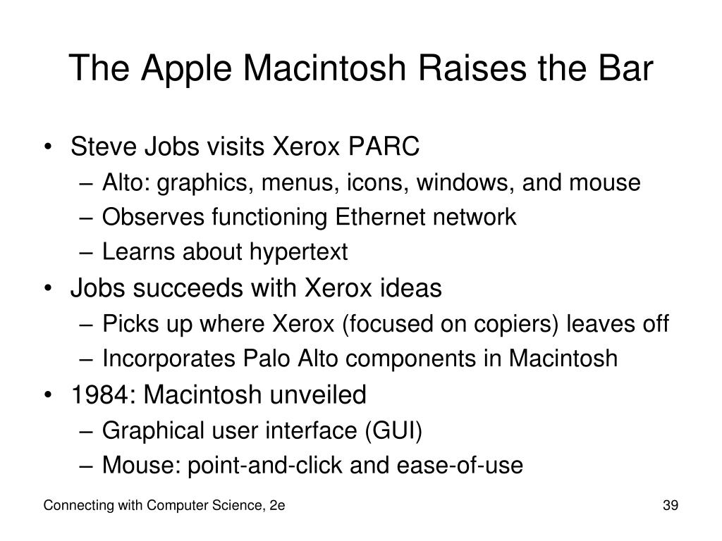 The Apple Macintosh Raises the Bar