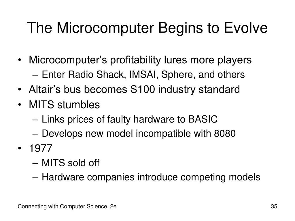 The Microcomputer Begins to Evolve