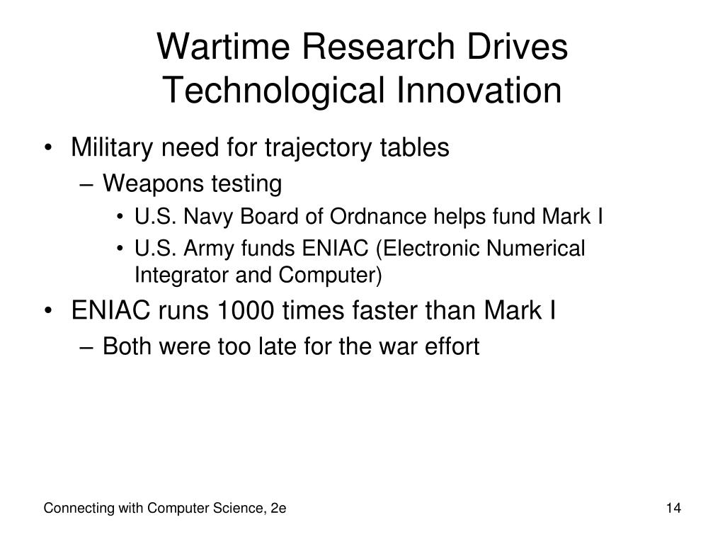 Wartime Research Drives Technological Innovation