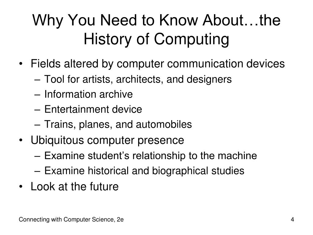 Why You Need to Know About…the History of Computing