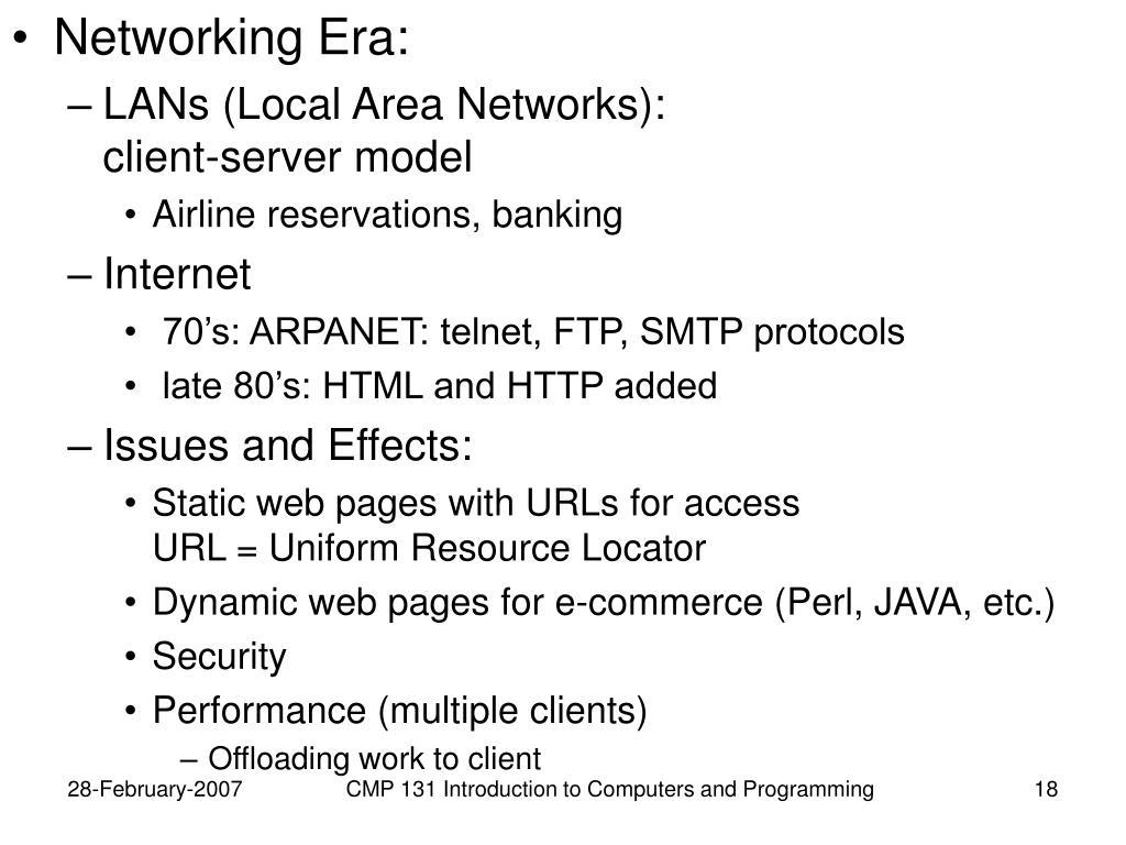 Networking Era: