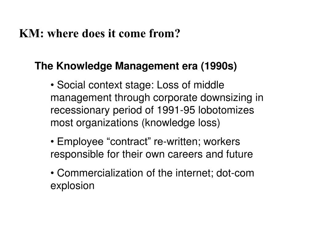 KM: where does it come from?