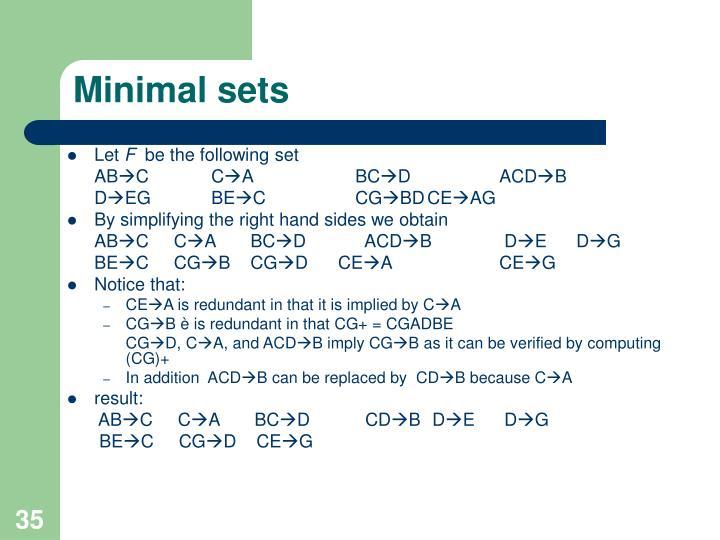 Minimal sets