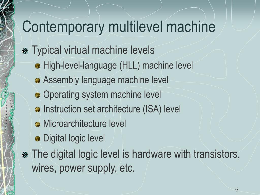 Contemporary multilevel machine