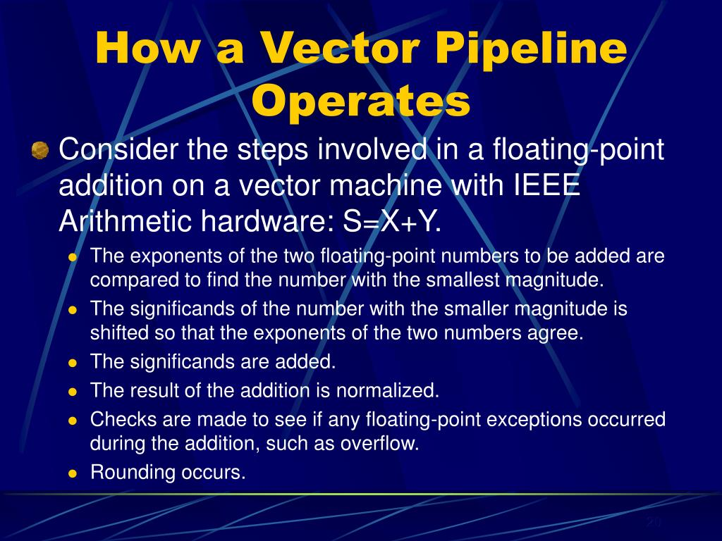 How a Vector Pipeline Operates