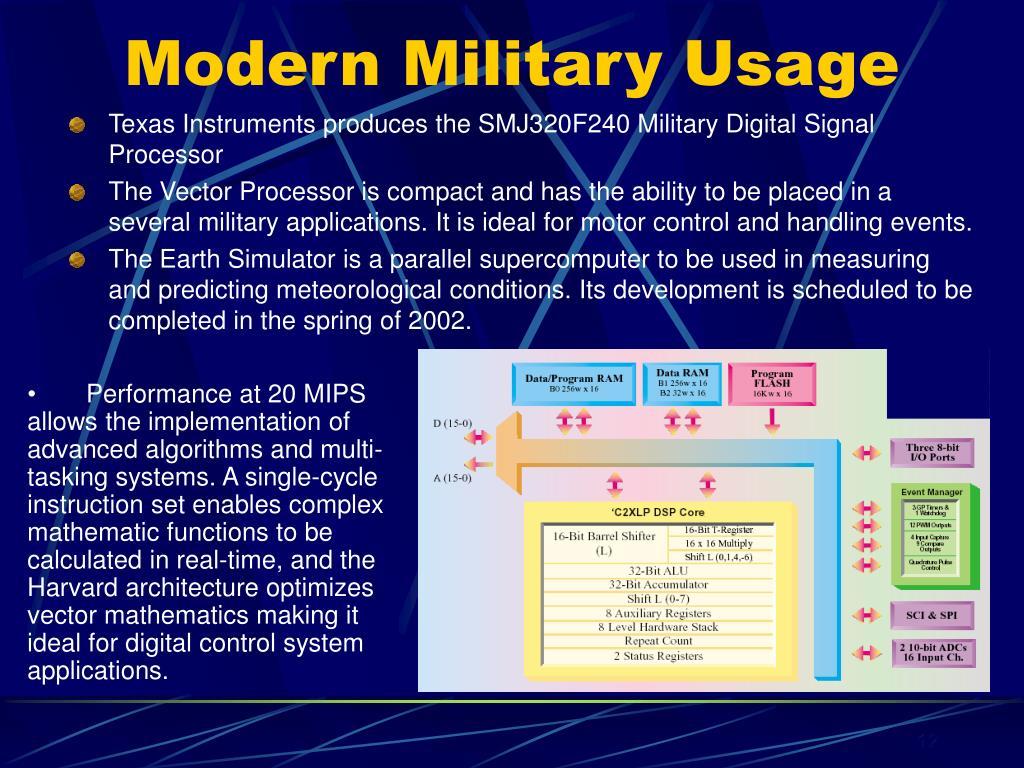 Modern Military Usage