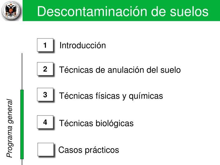 17. Descontaminaci