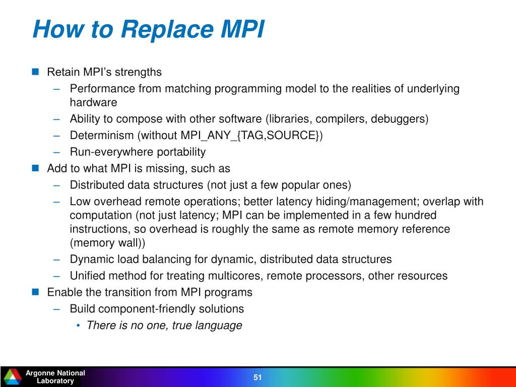 How to Replace MPI