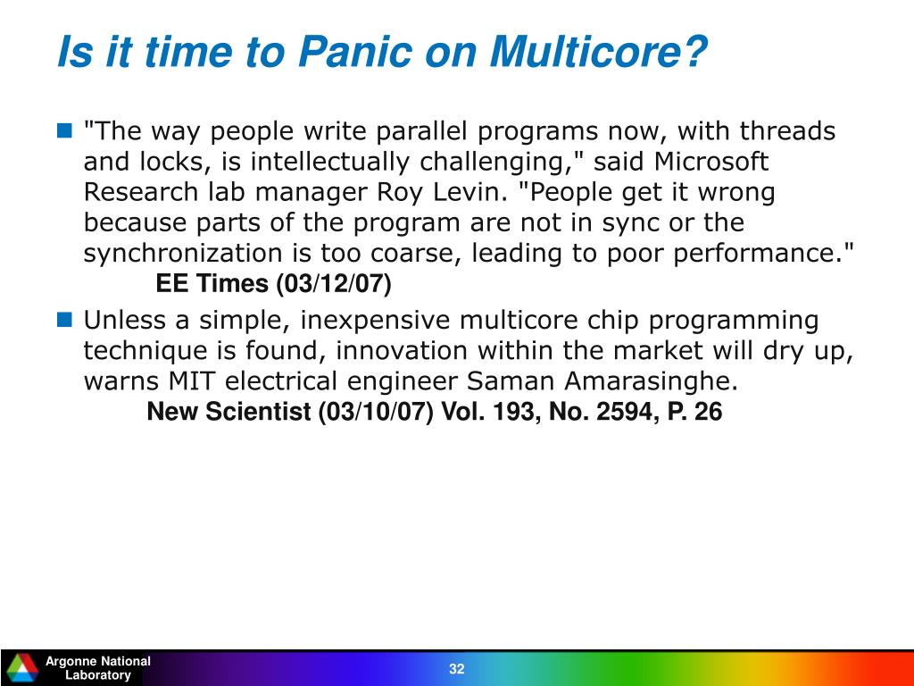 Is it time to Panic on Multicore?