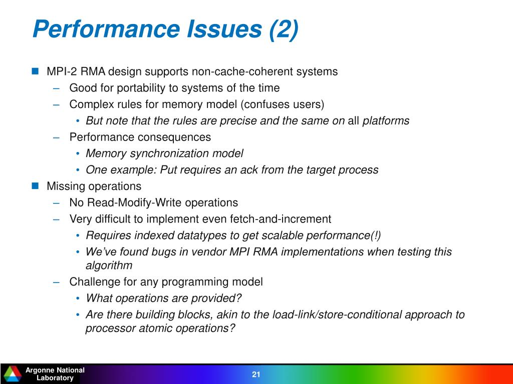 Performance Issues (2)
