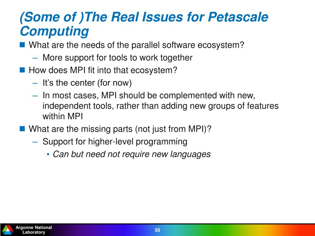 (Some of )The Real Issues for Petascale Computing