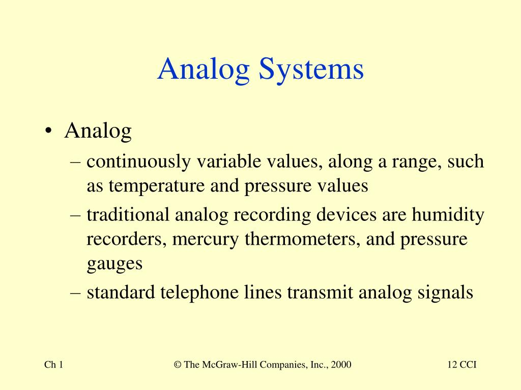 Analog Systems