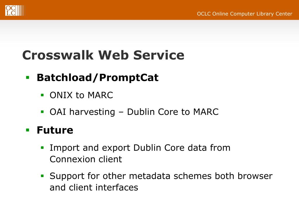 Crosswalk Web Service