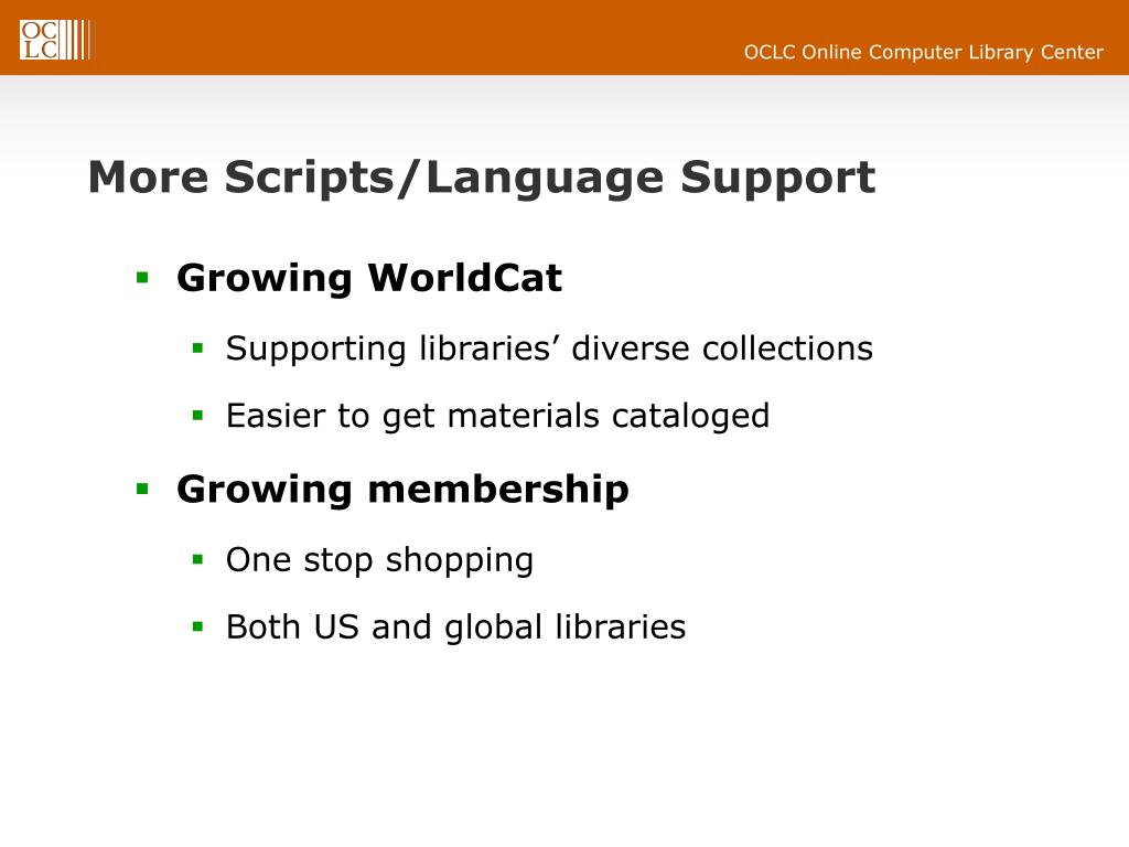 More Scripts/Language Support