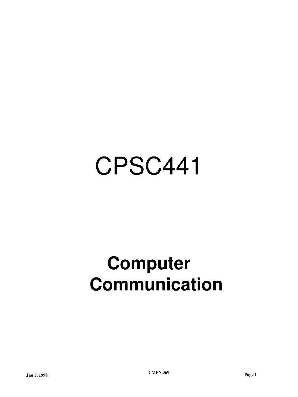 CPSC441
