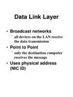 data link layer89