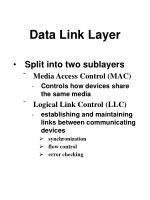 data link layer90