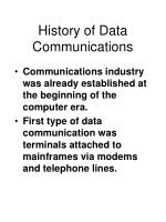 history of data communications