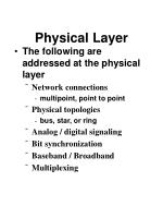 physical layer85