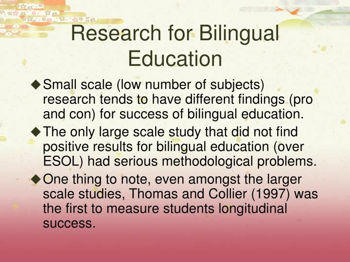 Research for Bilingual Education