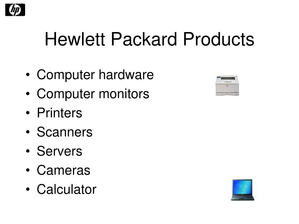 Hewlett Packard Products