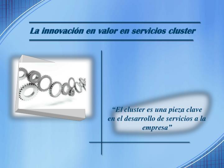 La innovación en valor en servicios