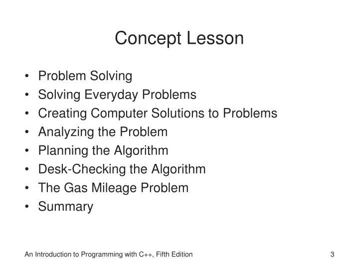 Concept Lesson