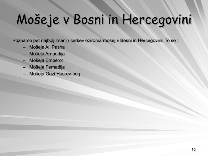 Mošeje v Bosni in Hercegovini