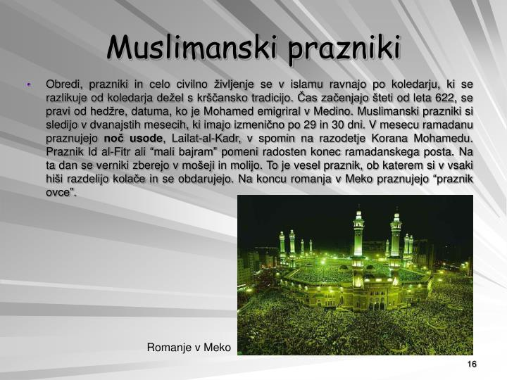 Muslimanski prazniki