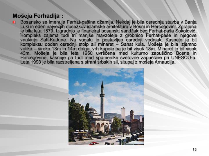 Mošeja Ferhadija :