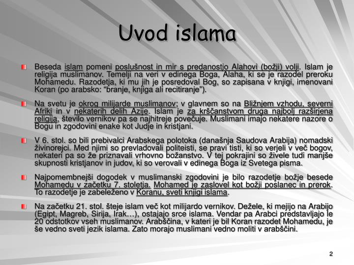 Uvod islama