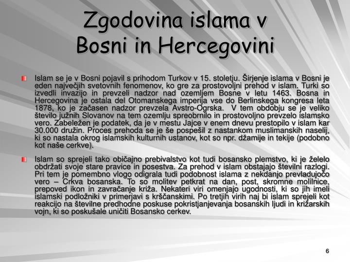 Zgodovina islama v