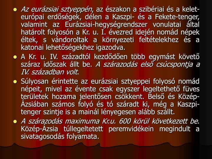 Az eurzsiai sztyeppn
