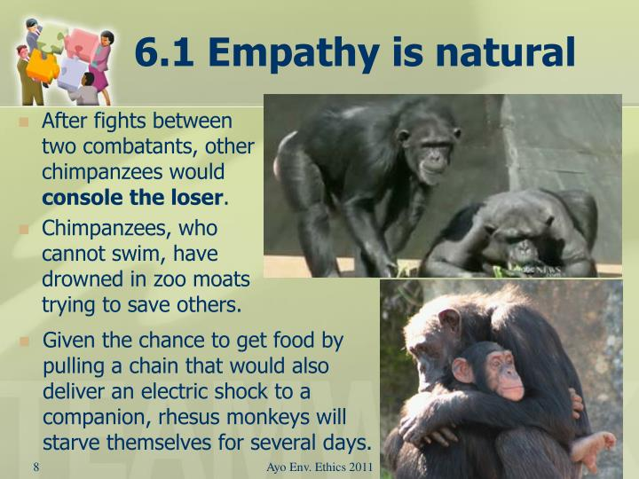 6.1 Empathy is natural