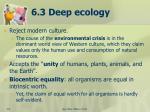 6 3 deep ecology