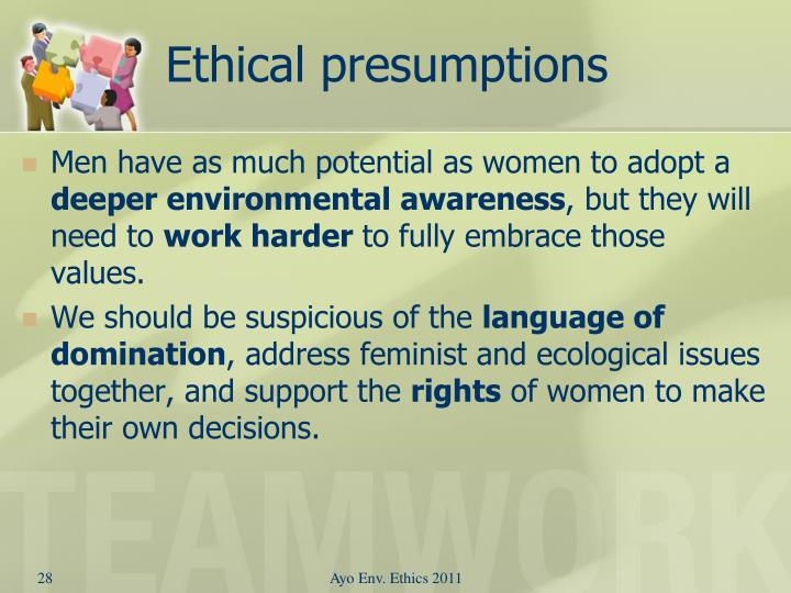 Ethical presumptions