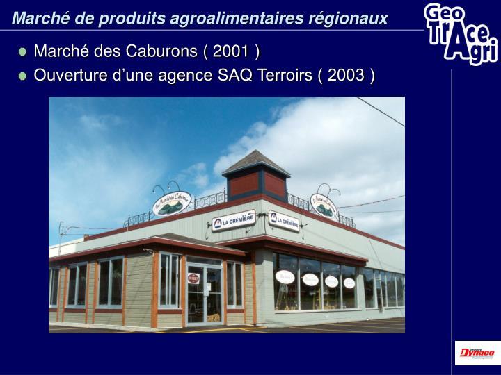 Marché de produits agroalimentaires régionaux