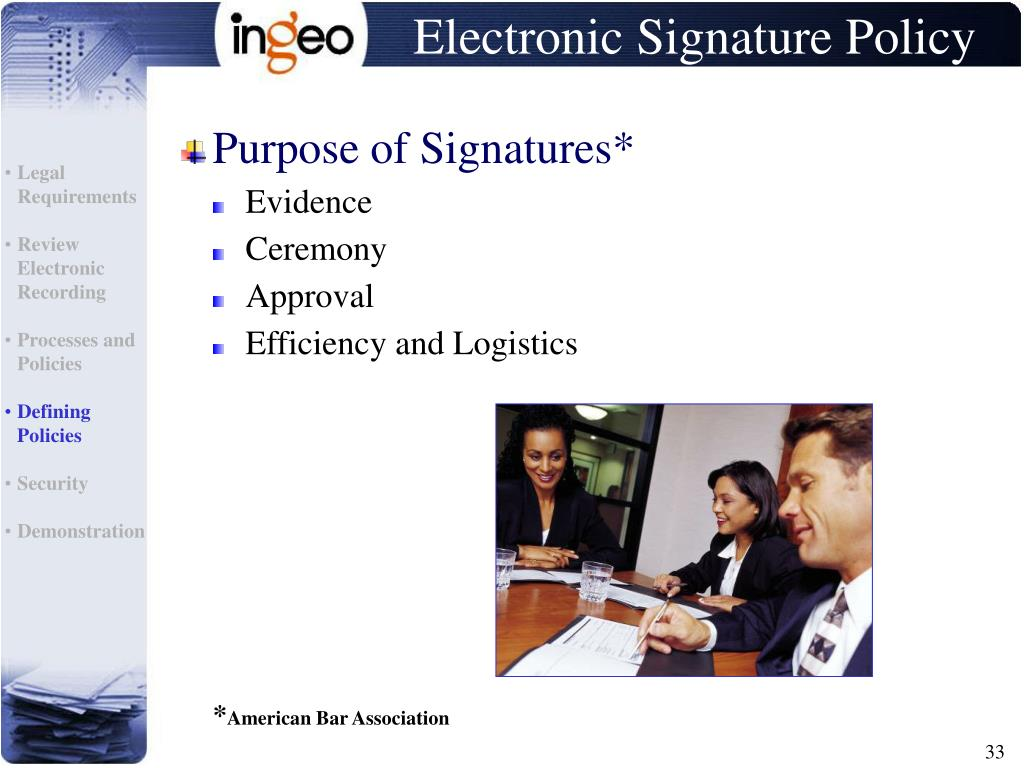 Electronic Signature Policy