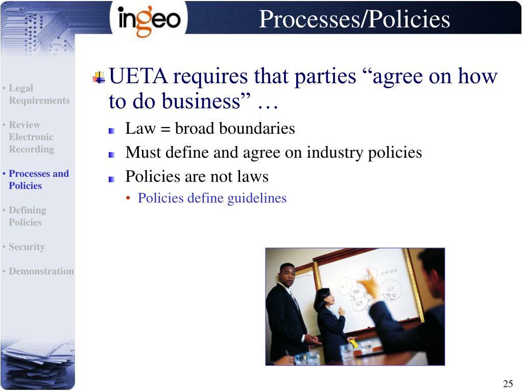 Processes/Policies
