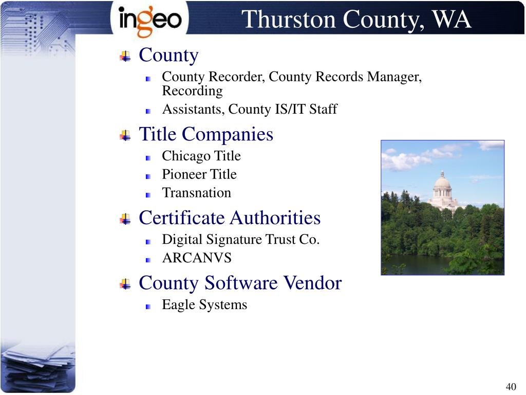 Thurston County, WA