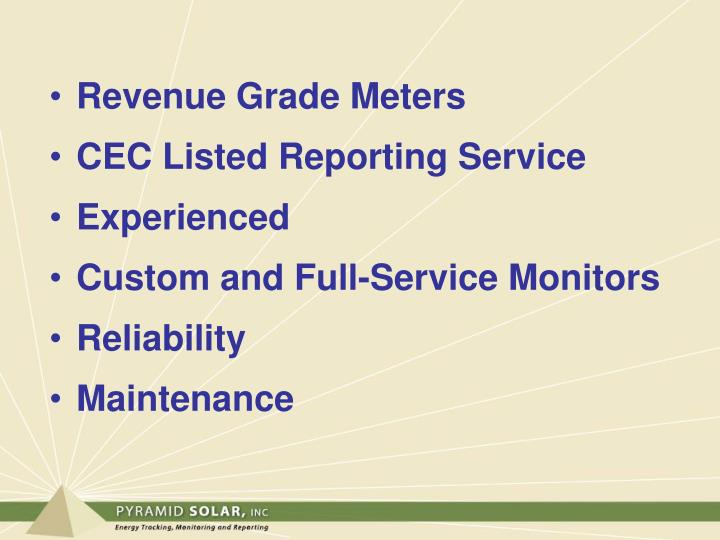 Revenue Grade Meters