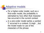 adaptive models27