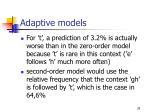adaptive models29