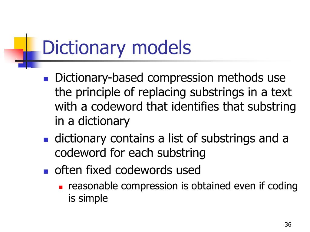 Dictionary models