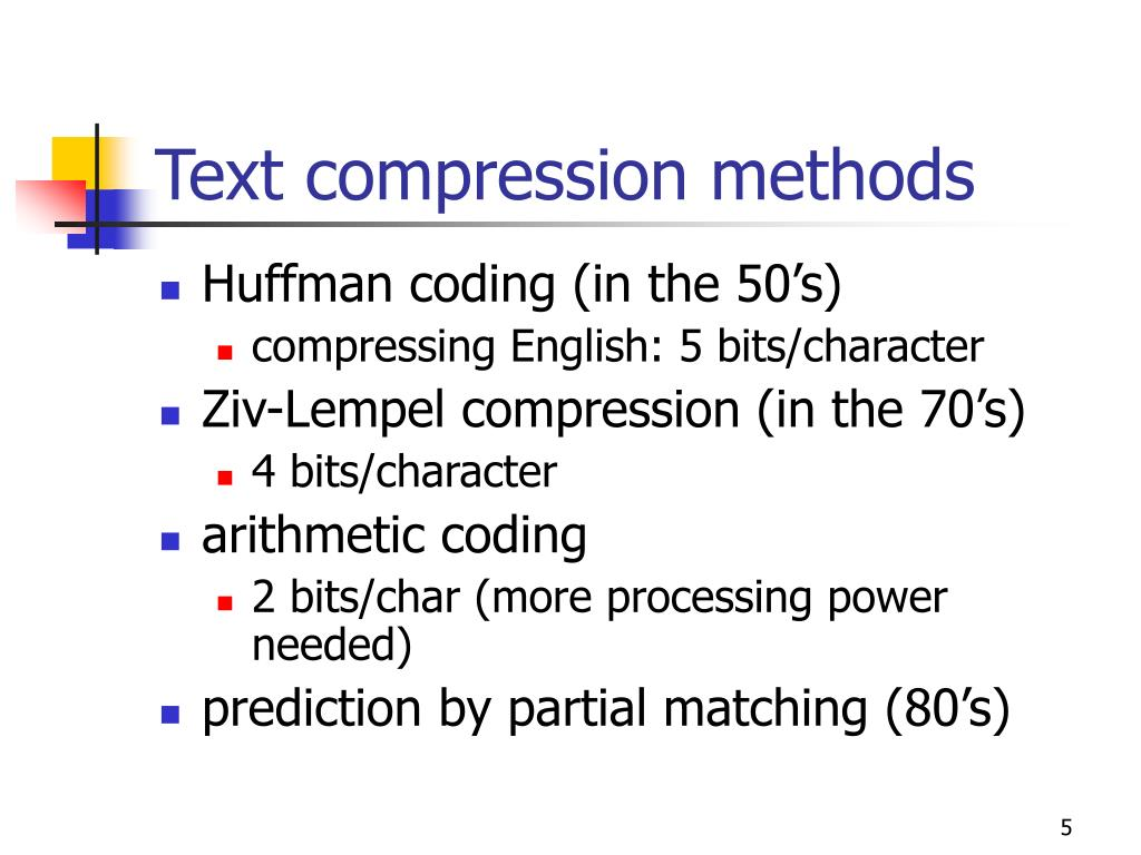 Text compression methods