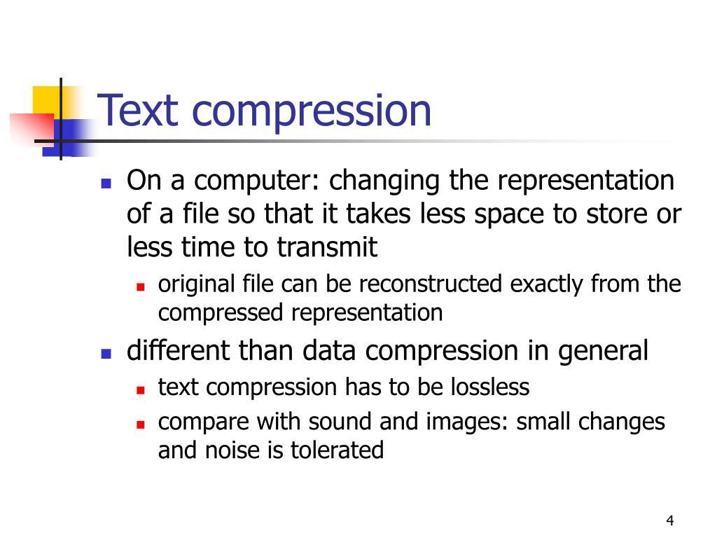 Text compression
