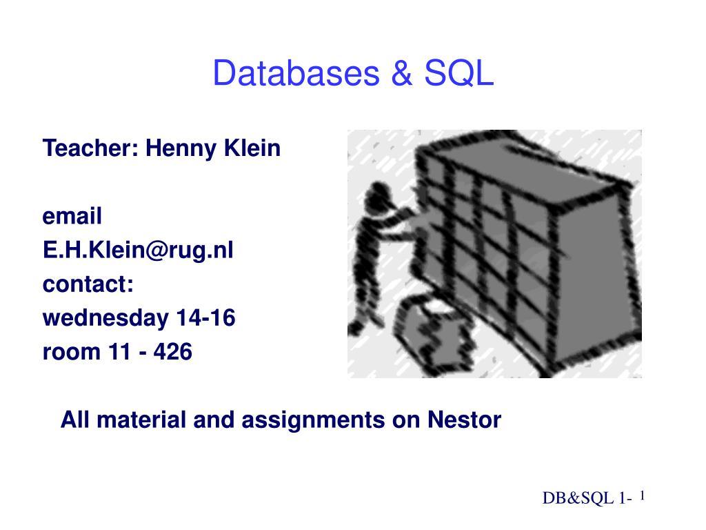 Databases & SQL