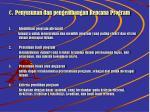 c penyusunan dan pengembangan rencana program